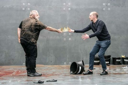 The Tragedy of King Richard the Second. Simon Russell Beale and Leo Bill. Photo credit Marc Brenner (11)