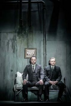 l-r Danny Dyer and Martin Freeman in Pinter Seven. Photo credit Marc Brenner