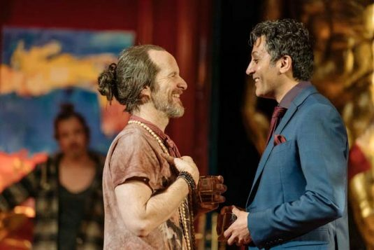 Denis O'Hare, Hari Dillon in Tartuffe by Molière in a new version by John Donnelly. Image by Manuel Harlan