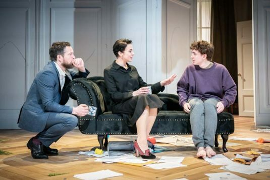 John Light (Pierre), Amanda Abbington (Anne) and Laurie Kynaston (Nicolas). The Son. Photo by Marc Brenner PROD-8070