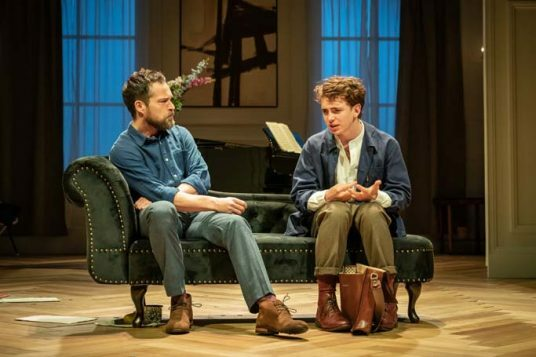 John Light (Pierre) and Laurie Kynaston (Nicolas). The Son by Florian Zeller. Photo by Marc Brenner. PROD-8197