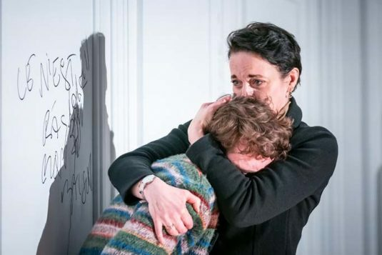 Laurie Kynaston (Nicolas) and Amanda Abbington (Anne). The Son by Florian Zeller. Photo by Marc Brenner. PROD-1050