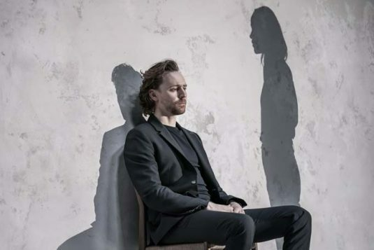 Tom Hiddleston (Robert) in 'Betrayal' directed by Jamie Lloyd.. Photo credit Marc Brenner