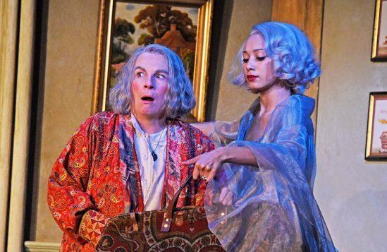 Jennifer-Saunders-and-Emma-Naomi-in-Blithe-Spirit-at-Theatre-Royal-Bath