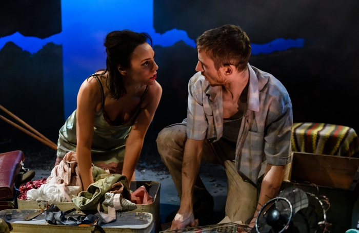 Jo Mousley and Emilio Iannucci in Hello and Goodbye at York Theatre Royal. Photo: Jane Hobson
