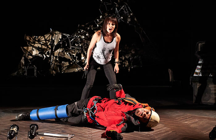 Fiona Hampton and Josh Williams in Touching the Void. Photo: Geraint Lewis