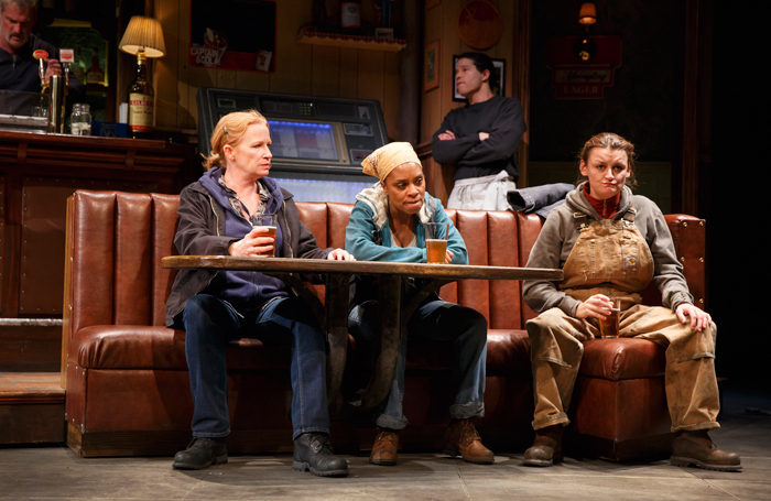 Sweat on Broadway in 2017. When it transferred to the Donmar in 2018, it seemed to be speaking directly to the political moment in the UK, says director Lynette Linton. Photo: Joan Marcus