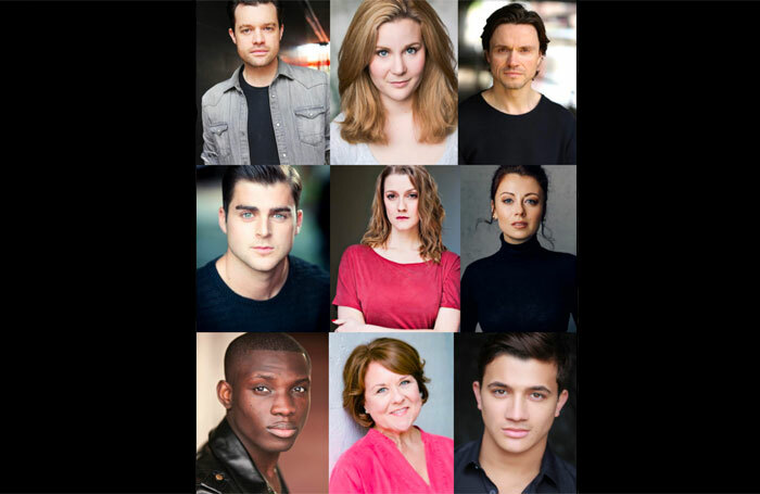 The cast for the workshop presentation of Footballers' Wives the Musical.