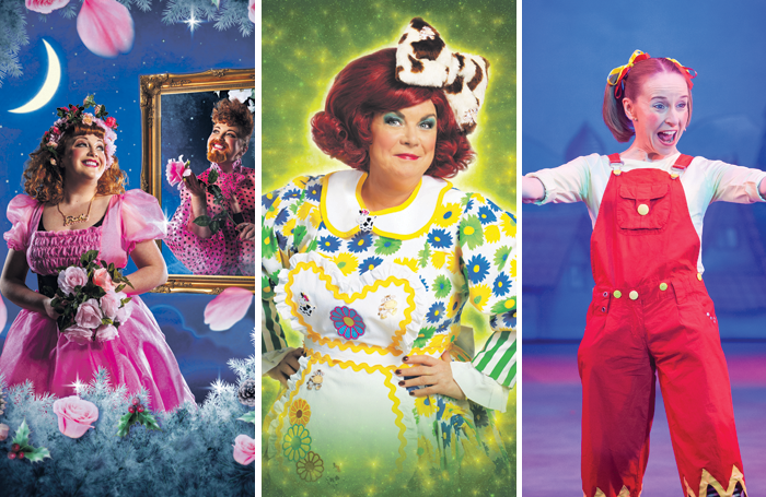 Cinderfella at the Tron Theatre, Glasgow, Elaine C Smith as Dame Trot at the King's Theatre, Glasgow and and Jane Deane as Jenny the Jester at the Capitol Theatre, Horsham, in 2012 (photo: Toby Phillips)