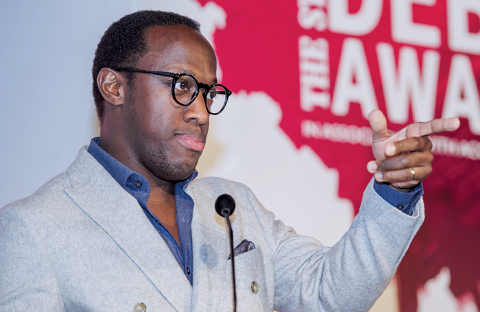 Giles Terera at The Stage Debut Awards earlier this year. Photo: David Monteith-Hodge
