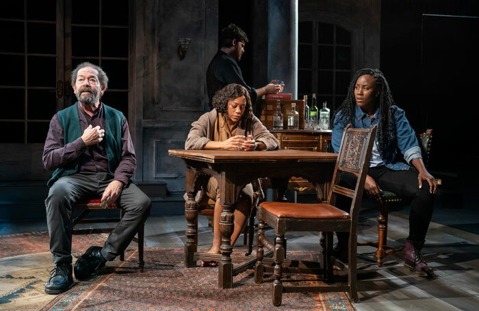 Jonathan Hadary, Nikki M James, Michael Esper and Crystal Lucas-Perry in A Bright Room Called Day at New York's Public Theater. Photo: Joan Marcus