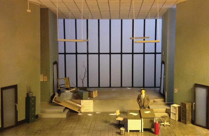 Grace Smart's set model forher design of SaintJoan atthe Lyric Theatre, Belfast