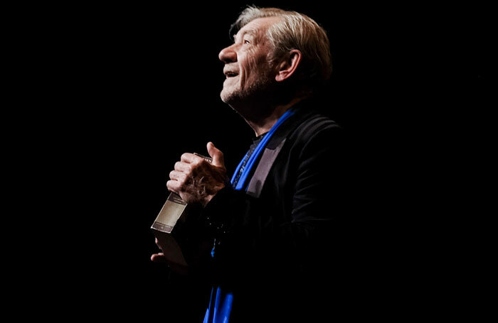 Ian McKellen in On Stage – his one man touring show. Photo: Frederic Aranda