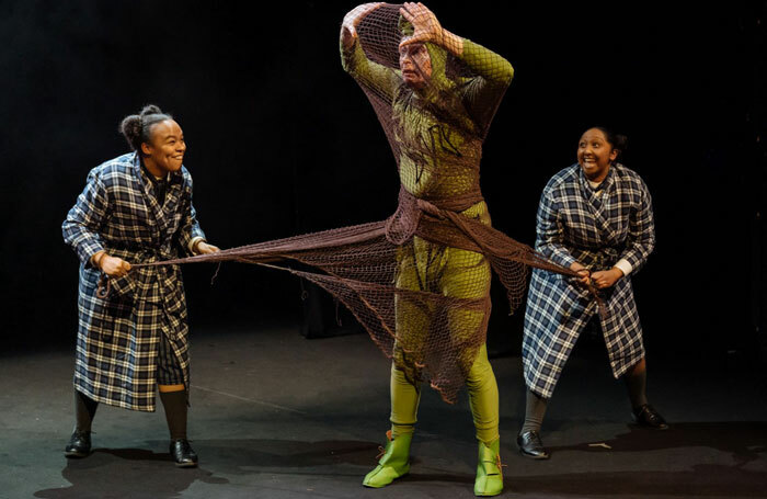 Mae Munuo, Paul McEwan and Rose-Marie Christian in The Canterville Ghost at London's Unicorn Theatre. Photo: Manuel Harlan