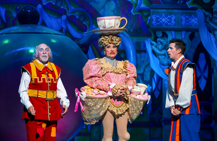 Clive Webb, Chris Hayward, Danny Adams in Beauty and the Beast  at Theatre Royal Newcastle