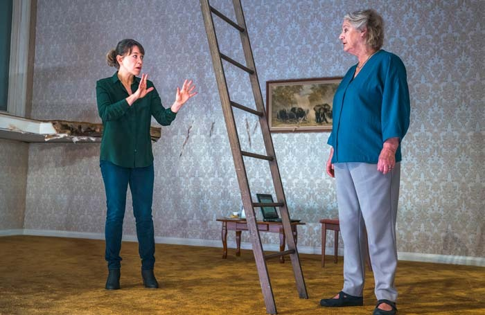 Nicola Walker and Maggie Steed in Mark Ravenhill's The Cane at Royal Court in 2018. Photo: Tristram Kenton