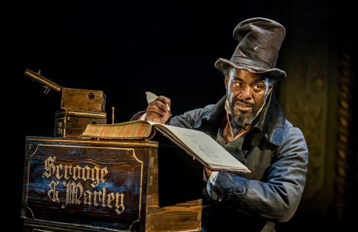 Paterson Joseph in A Christmas Carol at the Old Vic, London. Photo: Tristram Kenton