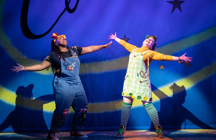 Timmika Ramsay and Jodie Jacobs in Cinderella. Photo: Helen Maybanks