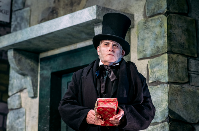 Crawford Logan in An Edinburgh Christmas Carol at Royal Lyceum Theatre, Edinburgh. Photo: Mihaela Bodlovic