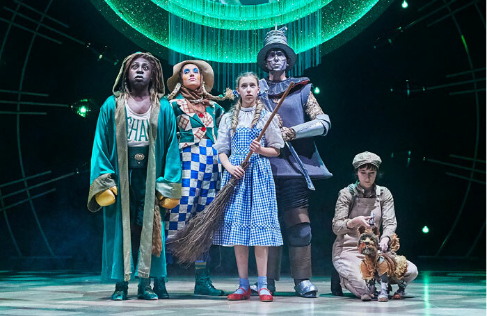 Cast of The Wizard of Oz at Leeds Playhouse. Photo: The Other Richard