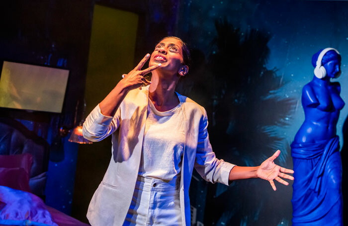 Nadia Nadarajah in Midnight Movie, written by Eve Leigh, at London's Royal Court. Photo: Tristram Kenton