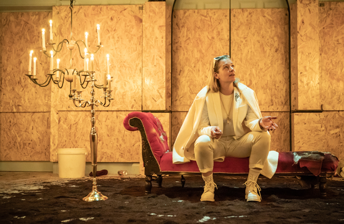 Sophie Russell in Richard III at the Sam Wanamaker Playhouse, London. Photo: Marc Brenner