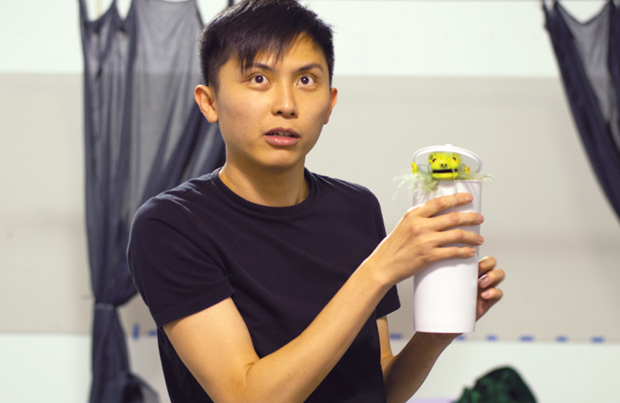 Robin Khor Yong Kuan in rehearsals  for Strange Tales at the Traverse Theatre. Photo: Lauren McLay