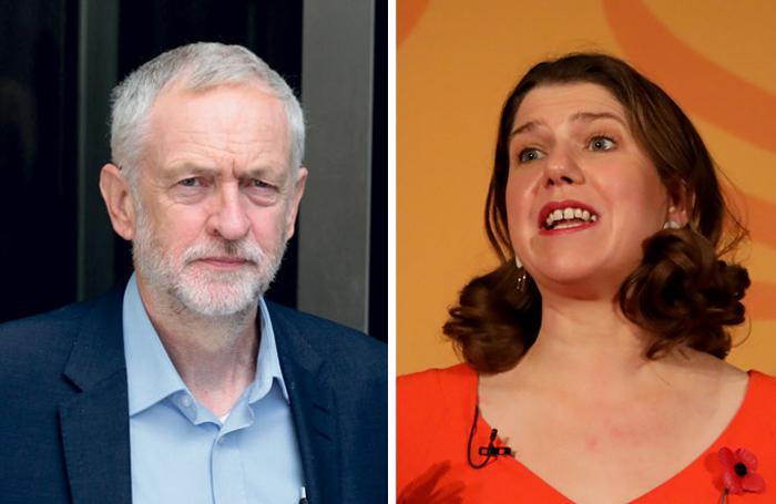 Labour leader Jeremy Corbyn and Liberal Democrat leader Jo Swinson. Photos: Shutterstock