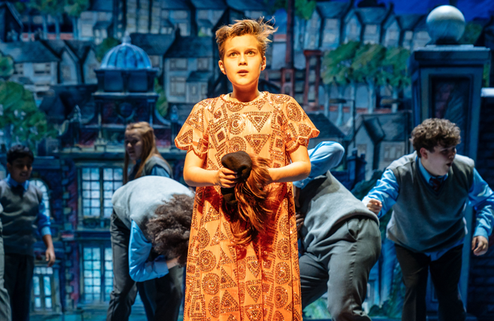 Toby Mocrei in The Boy in the Dress. Photo: RSC/ Manuel Harlan