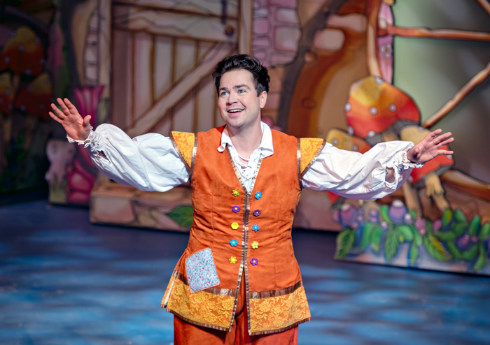Scene from Jack and the Beanstalk at Theatre Royal, Wakefield