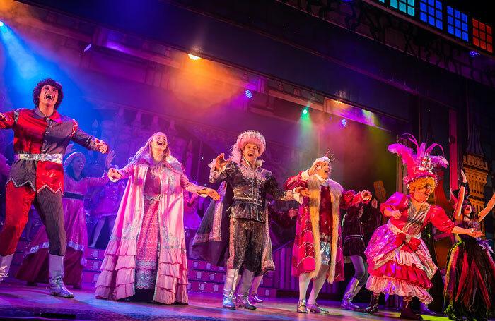 Cast of Sleeping Beauty at the Alban Arena, St Albans. Photo: Pamela Raith