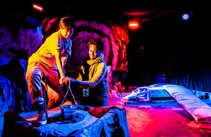 Vera Chok and Comfort Fabian in The Little Prince at Omnibus Theatre,  Clapham. Photo: Dan Tsantilis