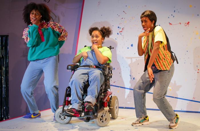 Ani Nelson, Saida Ahmed and Michelle Tiwo in Little Miss Burden. Photo: Kofi Dwaah