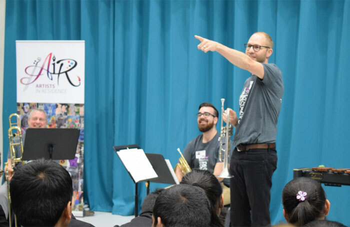 Artists in Residence project at Alperton Community School in London. Photo: George Streets