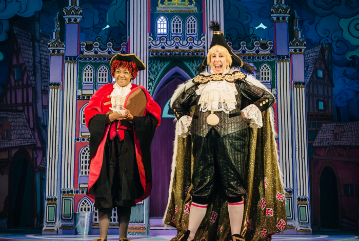 Bree Smith and Lizzie Winkler in Dick Whittington at Theatre Royal Stratford East