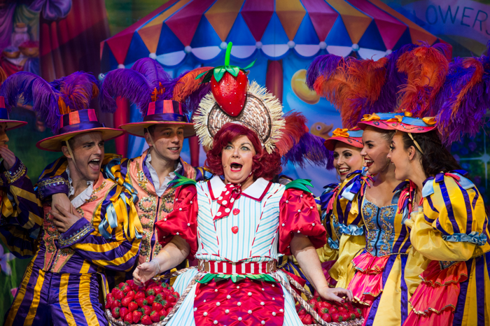 Elaine C Smith and company in Jack and the Beanstalk. Photo: Richard Campbell.