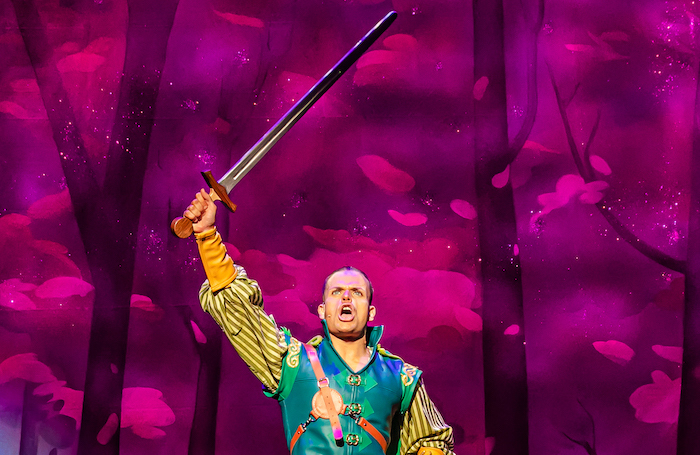 Giovanni Spano in Robin Hood at Salisbury Playhouse. Photo: The Other Richard