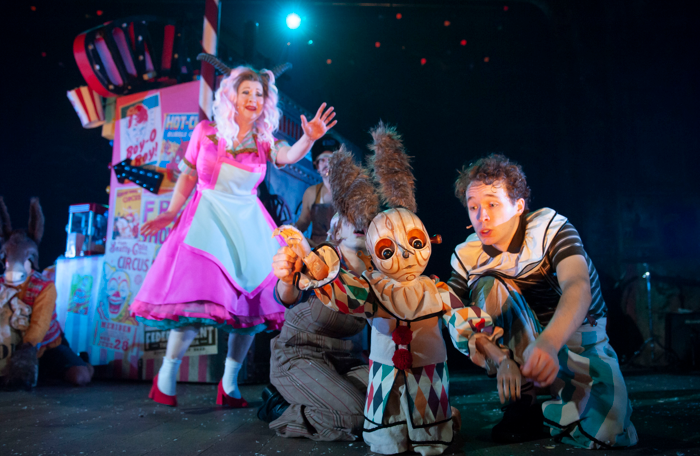 Irene Allan, Elisa De Grey and Liam King in Pinocchio. Photo: Tim Morozzo