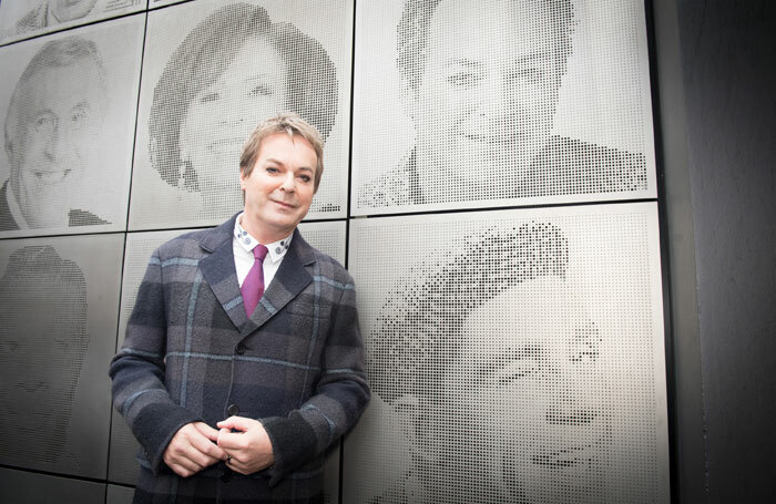Julian Clary in front of the London Palladium wall of fame. Photo: Craig Sugden
