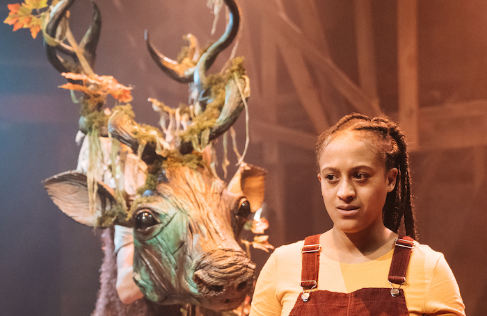 Justin Brett and Ayesha Casely-Hayford in The Snow Queen at Park Theatre. Photo: Manuel Harlan