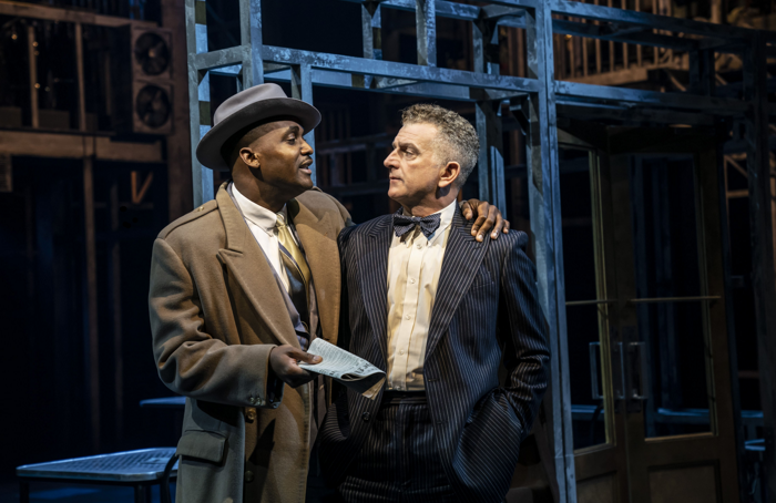 Kadiff Kirwan and Martin Marquez in Guys and Dolls. Photo: Johan Persson
