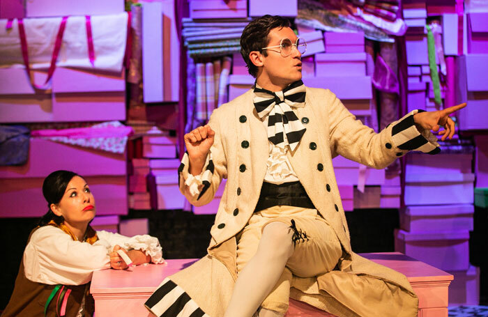 Natalie Williams and Jake Mitchell in The Tailor of Gloucester at Salisbury Playhouse. Photo: Nick Spratling