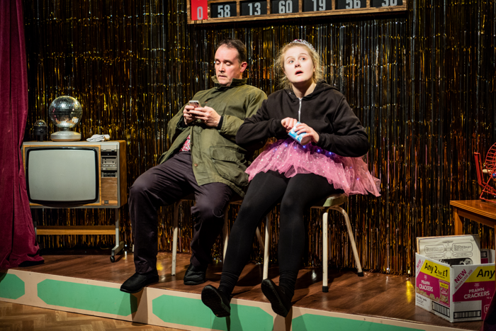 Alec Nicholls and Emma Barclay in One Million Tiny Plays About Britain at Jermyn Street Theatre. Photo: Robert Workman