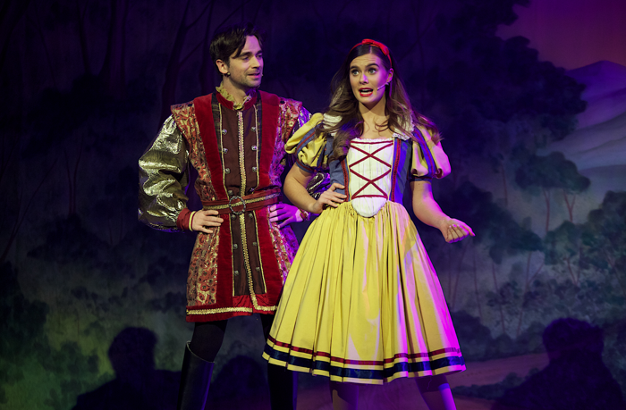 Rachael O'Connor and Conor O'Kane in Snow White and the Seven Dwarfs at Millennium Forum