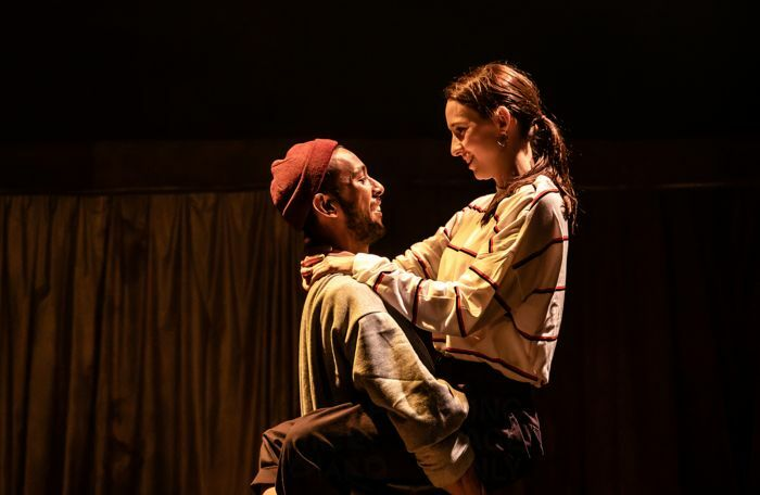 Ragevan Vasan and Emily Stott in I Wanna Be Yours at Bush Theatre, London. Photo: The Other Richard