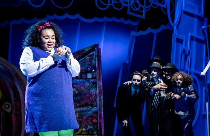Cara McInanny in Snow White at Chickenshed, London. Photo:  Steve Gregson