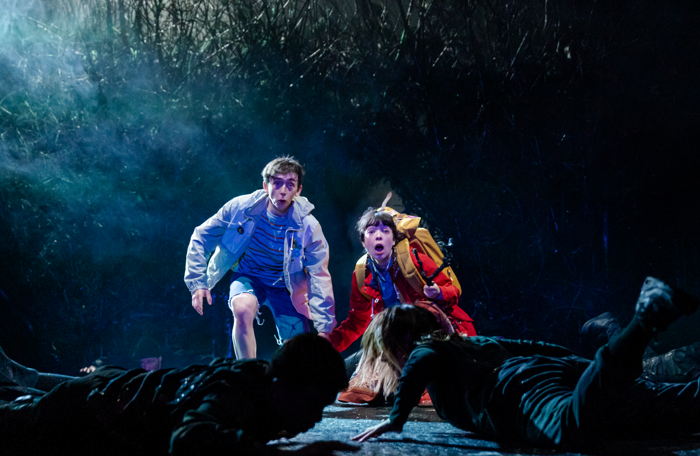 Samuel Blenkin and Marli Siu in The Ocean at the End of The Lane at the National Theatre, London. Photo: Manuel Harlan