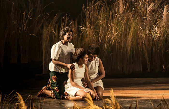 Sarah Niles, Racheal Ofori and Natalie Simpson in Three Sisters at the National Theatre, London. Photo: The Other Richard