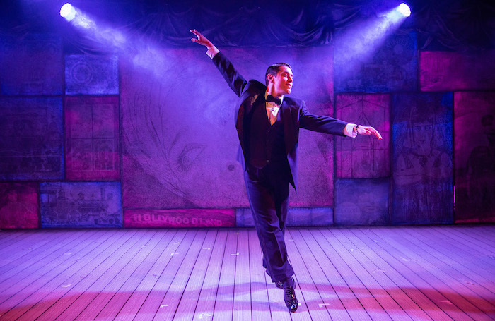 Philip Bertioli in Singin' in the Rain at the Mill at Sonning. Photo: Andreas Lambis