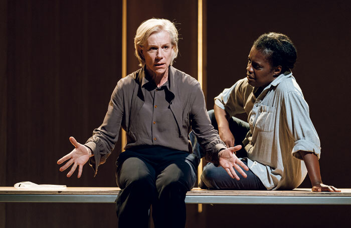 Juliet Stevenson and Joy Richardson in The Doctor, one of the few new plays this year to transfer to the West End. Photo: Manuel Harlan